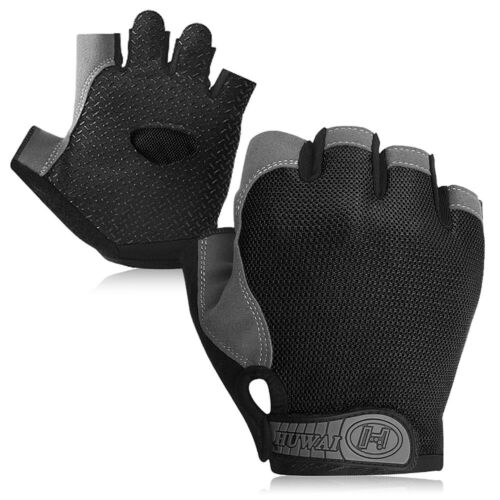 Bike Half Finger Gloves MTB Cycling Sport Short Gloves Anti-skid Bicycle Mittens