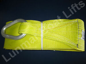 """Lunmar Boat Lift Slings 6/"""" x 12/' Weighted Nylon Sling W// Keel Pads"""