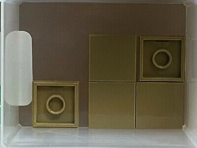 Green Tile 2 x 2 w Groove QTY 5 LEGO Parts No 3068b