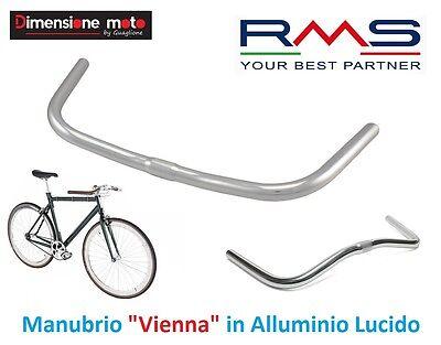 0020 Manubrio Curvo RMS in Alluminio Lucido per Bici 26-28 Trekking Strada