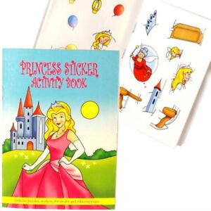 2-Princess-Sticker-Activity-Books-Travel-Party-Bags-Birthday