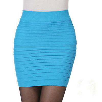 New Sexy Women's A-Line Mini Skirt Clubwear Short Pencil Pleated Bodycon Dress