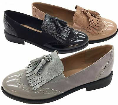 Ladies Summer Loafers Womens Holiday Slip On Brogues Sandals Espadrilles Size