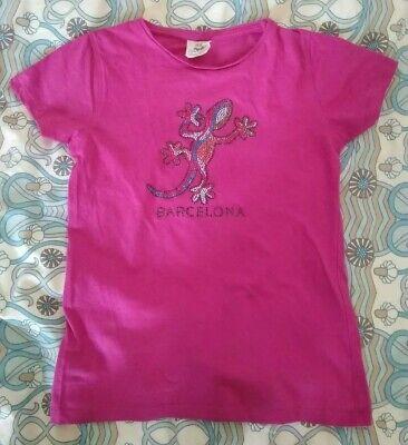 Gwailor Girls Rosa T-shirt Età 7-8 Anni Ans Fa- Prezzo Ragionevole