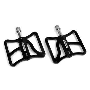 Mountain Road Bike Pedals MTB Aluminum Flat Platform Sealed Bearings 9/16''