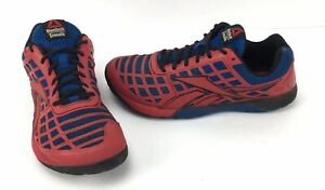 Reebok-Crossfit-Nano-3-0-Duracage-CF74-Sneakers-Shoes-Mens-Size-8-5-Red-Blue