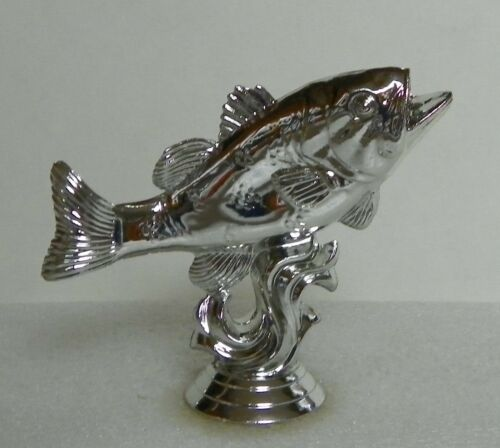 5 Silver Plastic Fish Trophy Toppers Lot Crafts