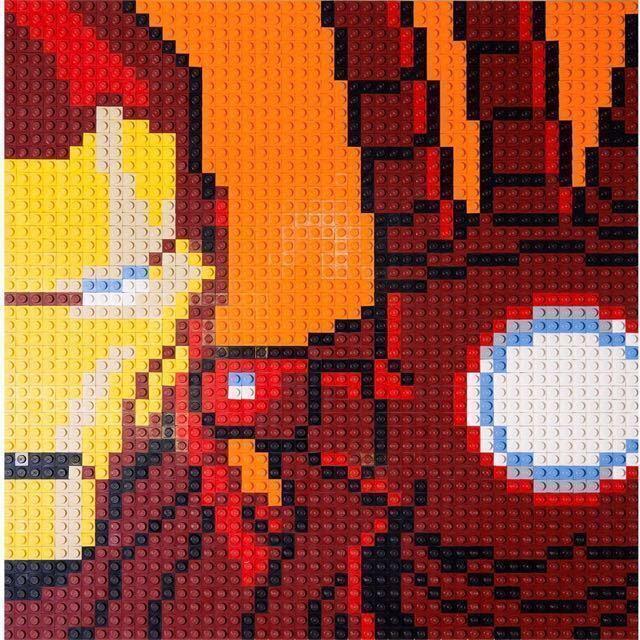 Lego förundras Avengers Iron Man Mosaic New och Exklusiv fri shipping världwide
