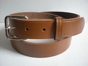nuevo estilo 58ad9 9fe35 Detalles de Marrón Cinturones De Piel Apto Para Hombres y mujer Pequeño a  Xx Grande Tallas