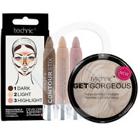 Technic Contour Stix Cream Contouring Set & Get Gorgeous Highlighter Compact