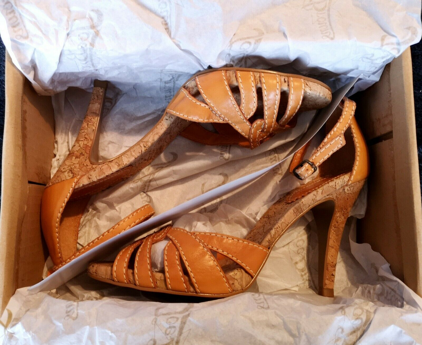 RIVER ISLAND Womans Womans Womans orange High Heels BRAND NEW Size 6 Ankle strap 01f61c