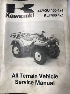 1989 KAWASAKI KLF300 BAYOU 4X4 OEM SERVICE MANUAL 99924-1117-51