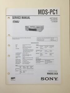Sony-MDS-PC1-Service-Manual-original-Document-Not-Copy-Or-PDF