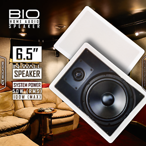 CT Sounds Bio In Wall 6.5  Inch 2-Way Stereo Sound Home Audio 1 Speaker