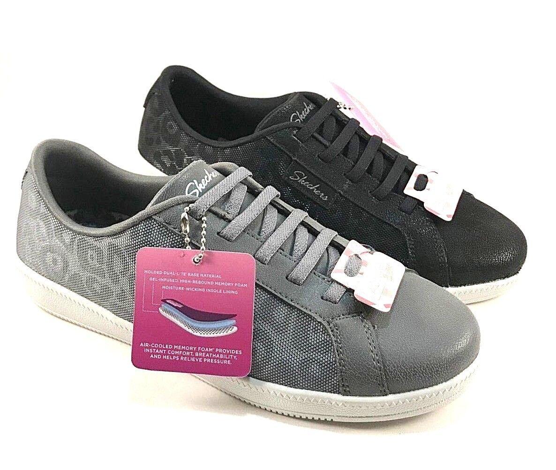 Skechers 23921 Madison Ave Sleek Leopard-Print Lace Up Sneakers Choose Sz color