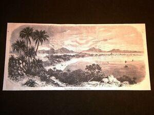 Mumbai-Bombay-nel-1858-Veduta-della-Citta-e-delle-montagne-del-Malabar-India