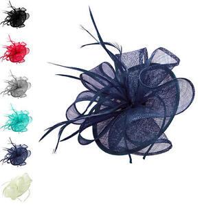 Finecy-In-Ladies-amp-Women-Headband-Clip-Flower-Wedding-Races-Hat-Fascinator