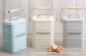 Image Is Loading Kitchen Craft Living Nostalgia Retro Tabletop Compost Bin