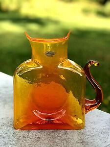 Blenko-Glass-Cat-Water-Bottle-384