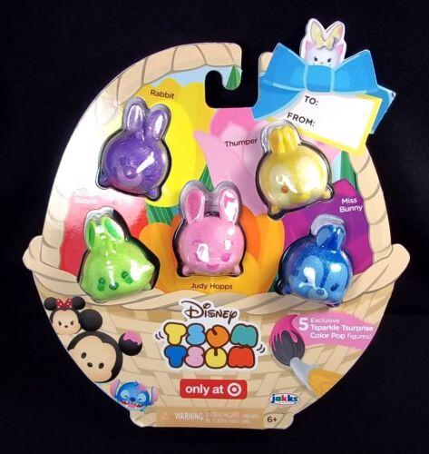 Disney Tsum Tsum 5 pack Tsparkle Tsurprise Glitter Color Pop Bunnies Easter NEW