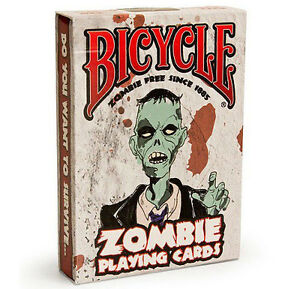 Bicycle zombie playing cards halloween deck zombies ebay for Zombie balcony