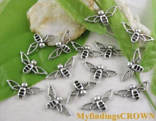 70pcs Tibetan silver BEE findings charm FC9068