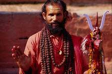 584083 Ascetic Priest Kathmandu City Sadhu Nepal A4 Photo Print