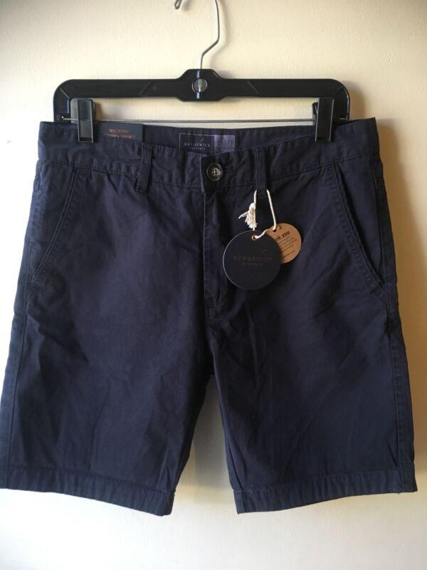 Cotton On Uomo Lavato Chino Corto Taglia 30 Nuovo Blu Navy Piatto Anteriore