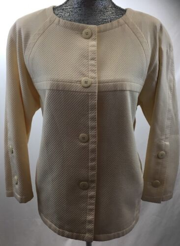 Butter Jacket Cropped Courreges Asymmetrical Women's 40 Large Paris Sz Yellow RngpOBq