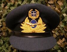 Greek Air force officers uniform dress hat with gold bullion 56cm.