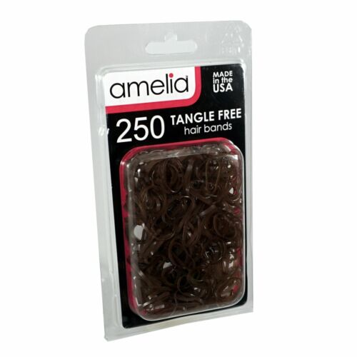 Details about  /250 Brown Tangle Free Bands for Pony Tails and Braids Standard