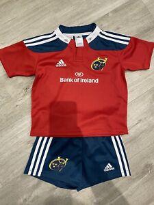 Munster Rugby Kit Adidas Shorts & T-Shirt Enfants Âge 5-6 Ans