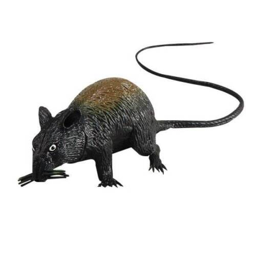 Fake,Rubber Rat Squeaking,Large,Halloween Animal Prop,Fancy Dress,Decoration #CA
