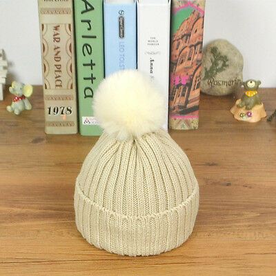 Toddler Kids Girls Boys Baby Winter Warm Crochet Knit Hat Newborn Ski Beanie Cap