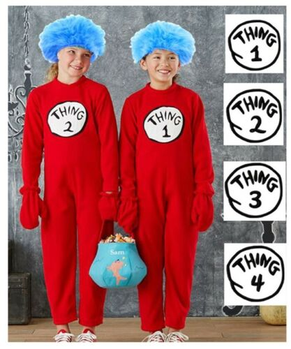 Kids Jumpsuit Dr Seuss Cat In The Hat Costume Party Book Week Boys Child Outfit