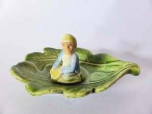 Shamrock-Pottery-Leprechaun-Dish-Vintage-Pottery-Bowl-Ring-Dish