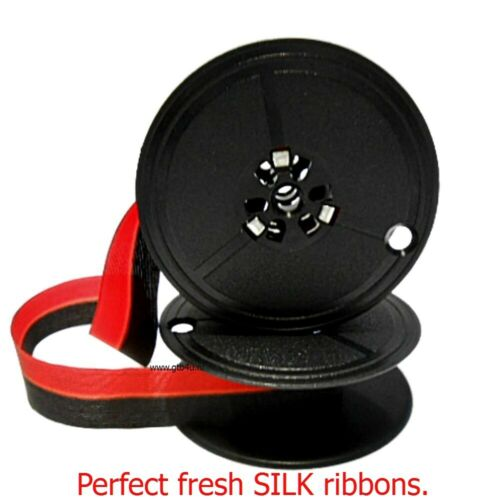 New. 1//2 inch black//red. Farbband vintage Typewriter Ribbons Perfect SILK