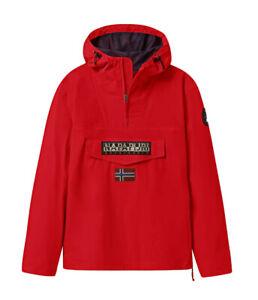 Giubbotto NAPAPIJRI da uomo rosso con cappuccio e tasca giacca con zip laterale
