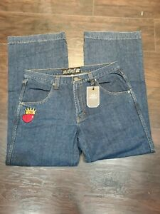 JNCO-Jeans-179-Crown-NWT-Size-34-Wide-bottoms-skating-Rave-90s-New