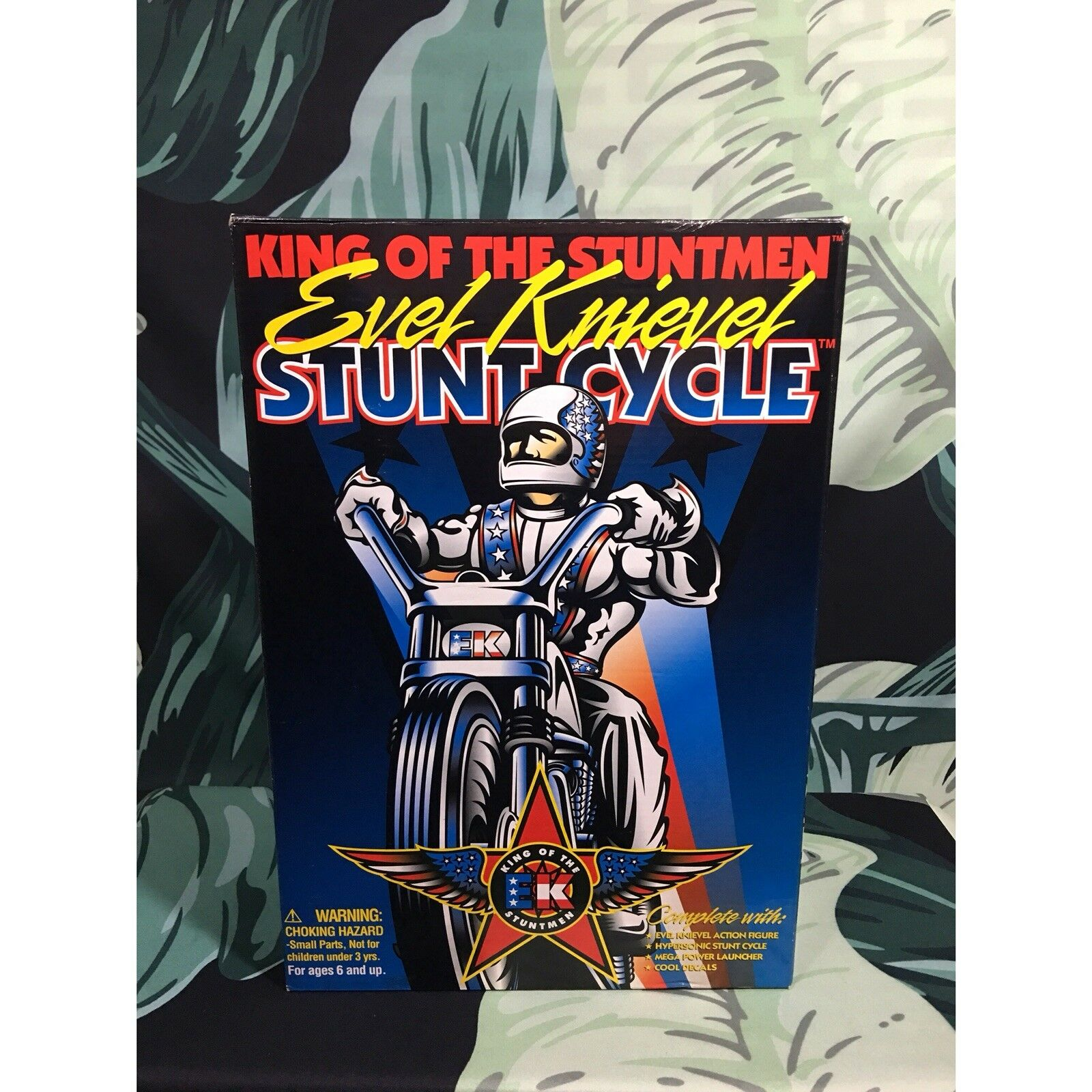 Vintage 100% Authentic Signed Autographed Evel Knievel Knievel Knievel 1991 Stunt Cycle Toys NIB 971087