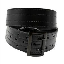 Perfect Fit 4 Row Stitch Sam Browne Black Leather Police Duty Belt Size 44
