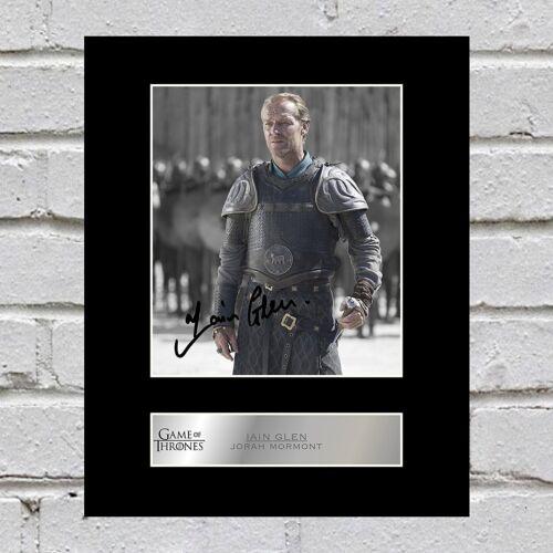 Game of Thrones Iain Glen Signed Mounted Photo Display Jorah Mormont
