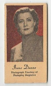 American-US-Engrav-O-Tints-Weighing-Weight-Machine-Card-US-Actress-Irene-Dunne