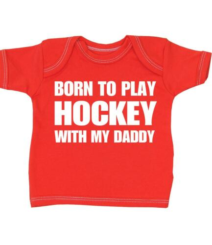 Baby Boys Girls Clothes Ice Field Hockey Daddy T-shirt Tees Tops Shower Gifts