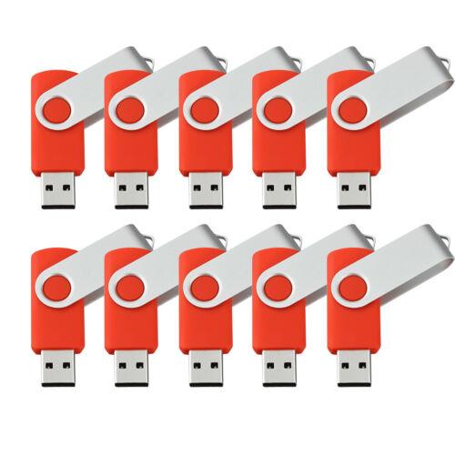Wholesale 10//20//50pcs Swivel 16GB USB Flash Drive Pen Drive Thumb Memory Stick