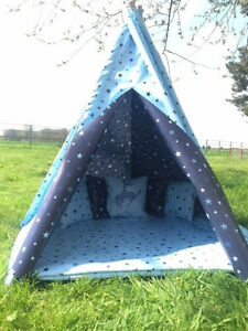 Image is loading STARS-TEEPEE-CHILDRENS-WIGWAM-PLAY-TENT-4ft-5ft- & STARS TEEPEE CHILDRENS WIGWAM PLAY TENT 4ft/ 5ft/ 6ft WATERPROOF ...