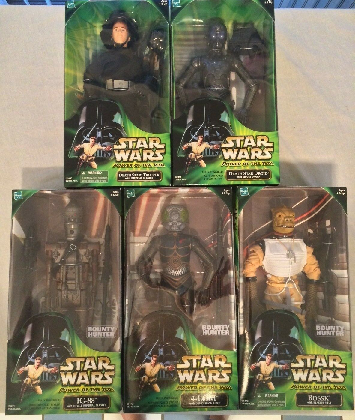 STAR WARS POTJ 12' SET OF 5 FIGURES (VERY NICE SET)