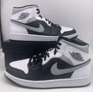 Nike-Air-Jordan-1-Retro-Mid-034-White-Shadow-034-554724-073-Black-White-Smoke-Grey