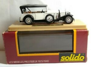 Solido-Age-d-039-or-1-43-Diecast-Scala-1928-MERCEDES-SS-Soft-Top-Bianco-Nero-132