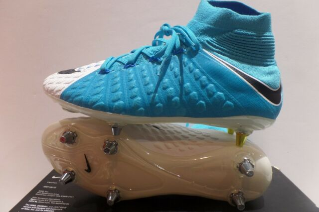 new product 71251 74b36 Nike Hypervenom Phantom 3 III SG Pro Soccer Cleats Blue White Size 7  881780-105